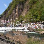 【動画有】凄い!800匹の鯉のぼりが泳ぐ!材木岩公園 こいのぼり吹き流し2018が圧巻の大迫力 宮城県観光名所